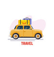 car for travel vector image