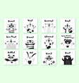 cards with funny animals and exclamations tiger vector image