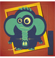 Cartoon elephant with Pirsing vector image