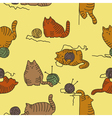 Cats seamless texture vector image vector image