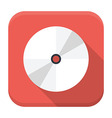 CD disc flat app icon with long shadow vector image vector image