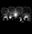 celebration with fireworks vector image vector image