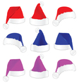 christmas hat in three color vector image