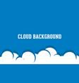 cloud background logo vector image