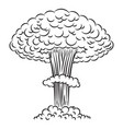 comic style nuclear explosion on white background vector image