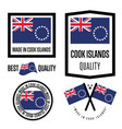 cook islands quality label set for goods vector image vector image