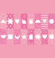 cute patterns with badges pink pattern for little vector image vector image