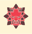 demon japanese mask vintage vector image