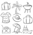 doodle of element summer holiday vector image vector image