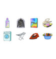 dry cleaning equipment icons in set collection for vector image