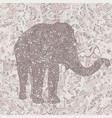 elephant in asian style mandala seamless nude vector image