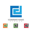 f letter logo template vector image vector image