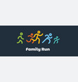 family run race colorful runnerslogo for running vector image vector image