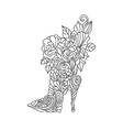 fashion boots vector image