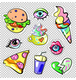 fashion pop art patch badges sweet colors isolated vector image vector image