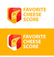 favorite cheese store - style colorful logo vector image vector image