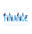 finance business concept in a flat style vector image vector image