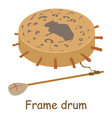 frame drum icon isometric 3d style vector image