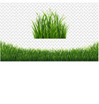 green grass frame set in isolated white background vector image