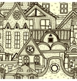 Hand-drawn seamless pattern with old town vector | Price: 3 Credits (USD $3)