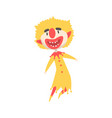happy laughing clown jumping colorful cartoon vector image vector image