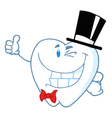 Happy Winking Gentleman Tooth vector image vector image