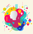Human head on abstract colorful spotted background vector image vector image