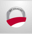 indonesia my country flag badge vector image