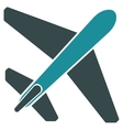 Jet Airplane Flat Icon vector image vector image