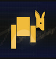 kangaroo symbols on stock market vector image vector image