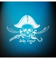 label pirate theme vector image