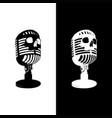 microphone skull vector image
