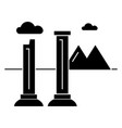 monuments of ruins icon sig vector image