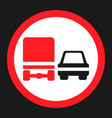 overtaking ban for truck prohibition sign icon vector image vector image