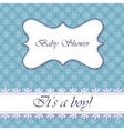 Polka dot flowers baby shower boy vintage vector image