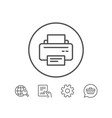 printer icon printout device sign vector image