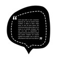 quotation mark speech bubble design quote sign vector image
