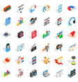 right design icons set isometric style vector image vector image