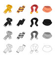 scarf accessories clothing and other web icon in vector image