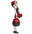 Schoolgirl vector image vector image