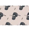 seamless pattern background vintage skull vector image