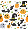 seamless pattern with halloween elements vector image vector image