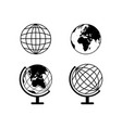 set earth globes icons vector image vector image