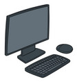 set monitor keyboard and mouse vector image