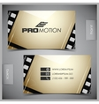 set of creative business cards film vector image
