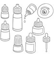 set of eye medicine vector image vector image