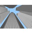 Skyscraper modern building vector image vector image