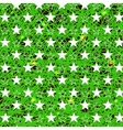 Starry Grunge Green Background vector image vector image