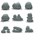 Stone style element set art vector image vector image