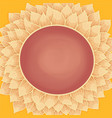 sunflower circle frame with copy space frame vector image vector image